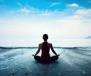 hapiness, sea, and zen image