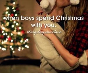 love, boy, and christmas image