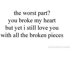 broken, broken heart, and pieces image