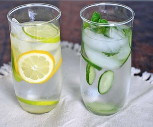 fitness, food, and fruit water image