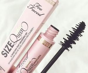 makeup, mascara, and pink image