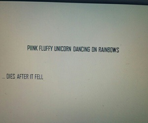 fluffy, funny, and rainbow image