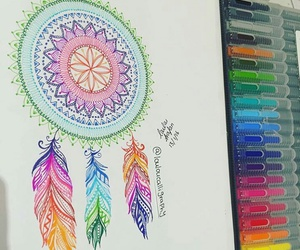 art, colours, and mandala image