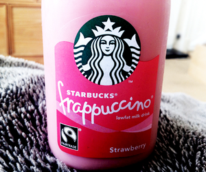 starbucks, pink, and frappuccino image