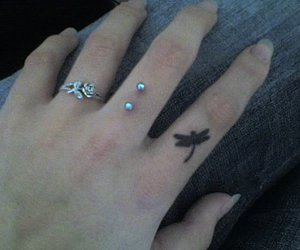 tattoo, piercing, and ring image