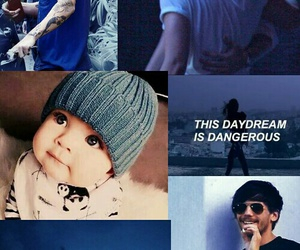 baby, blue, and Collage image