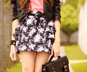 fashion, skirt, and bag image