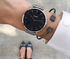 black, fashion, and silver image