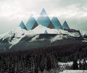 mountains, triangle, and hipster image