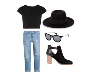 booties, hat, and jeans image