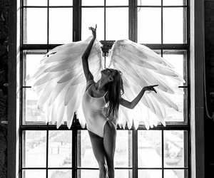 angel, beautiful, and ballet image