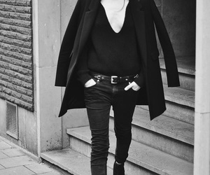 street style and all black image