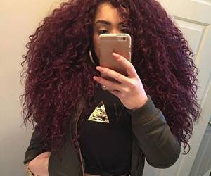 big hair, curly hair, and eyebrows image