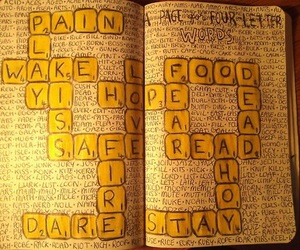 journal, yellow, and notebook image