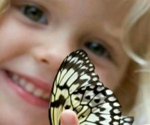 butterfly, children, and kids image