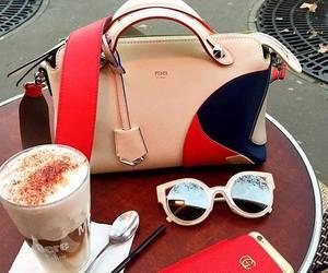 bag, fendi, and coffee image