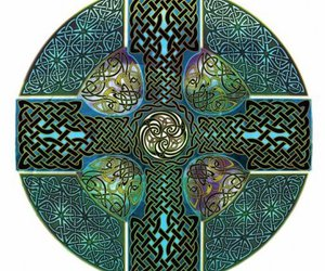 blue, celtic, and cross image