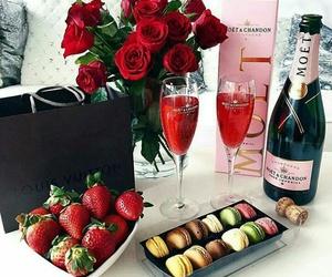 strawberry, rose, and luxury image
