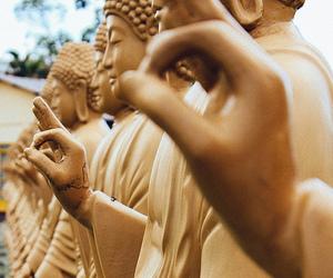 Buddha, gold, and tumblr image