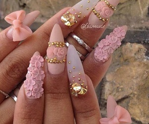 luxury, nails, and gold image