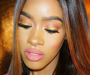 beauty, black girl make up, and flawless image