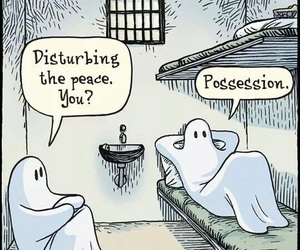 funny, ghost, and possession image