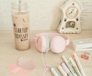 pastel and headphones image