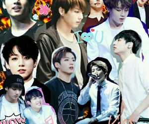 Collage, kpop, and jungkook image