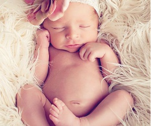 baby, cute, and flower image