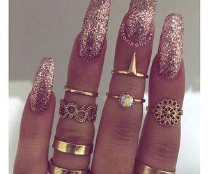 nails, glitter, and giltternails image