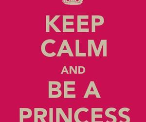 princess, keep calm, and pink image