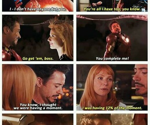 iron man, Marvel, and pepper potts image