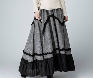 etsy, maxi skirt, and women skirt image