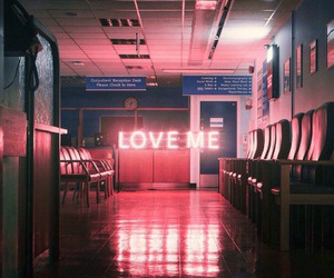 love me, neon, and light image