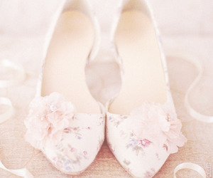 floral, shoes, and pale image