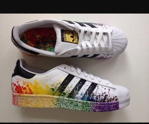 adidas, fashion, and paint image