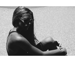 black and white, girl, and summer image