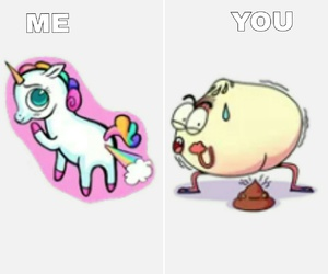 me, onion, and unicorn image