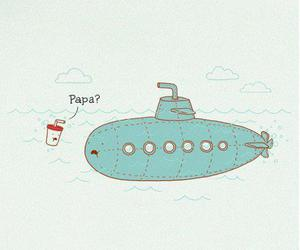 cool, submarine, and water image
