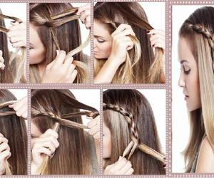 beauiful, tresse, and beauty image