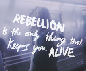 rebellion, alive, and quote image