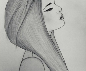drawing, draw, and girl image