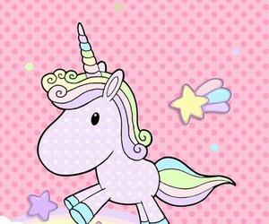 wallpaper, cute, and unicorn image