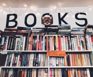 bookcase, books, and reading bookshelf image