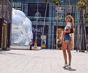 romee strijd, outfit, and summer image