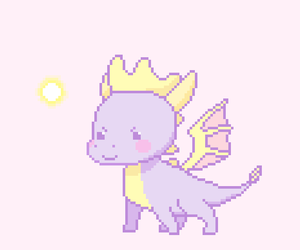 kawaii, pixel art, and pale pink image