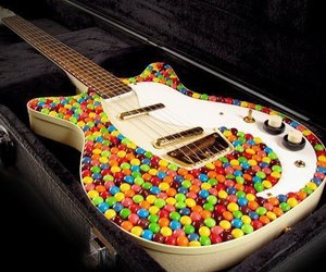 guitar, sweet, and candy image