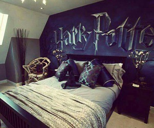 harry potter, room, and bedroom image