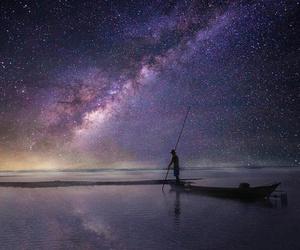 cosmos, sky, and sea image