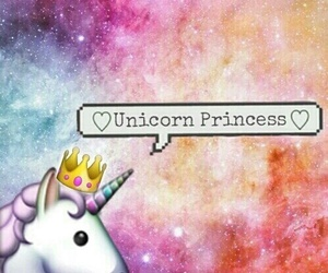 unicorn, princess, and wallpaper image